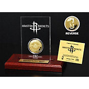 The Highland Mint Houston Rockets Gold Coin Etched Acrylic