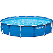 Intex Metal Frame 15' x 48'' Backyard Pool with Filter Pump