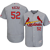 Majestic Men's Authentic St. Louis Cardinals Michael Wacha #52 Road Grey Flex Base On-Field Jersey