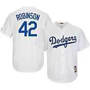 Majestic Men's Replica Los Angeles Dodgers Jackie Robinson Cool Base White Cooperstown Jersey