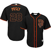 Majestic Men's Replica San Francisco Giants Buster Posey #28 Cool Base Alternate Black Jersey