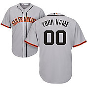 Majestic Men's Custom Cool Base Replica San Francisco Giants Road Grey Jersey