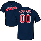 Majestic Men's Custom Cleveland Indians Navy T-Shirt