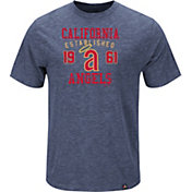 Majestic Men's Los Angeles Angels Cooperstown Navy T-Shirt
