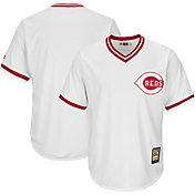 Majestic Men's Replica Cincinnati Reds Cool Base White Cooperstown Jersey