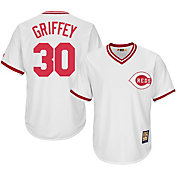 Majestic Men's Replica Cincinnati Reds Ken Griffey Jr. Cool Base White Cooperstown Jersey