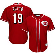 Majestic Men's Replica Cincinnati Reds Joey Votto #19 Cool Base Alternate Red Jersey