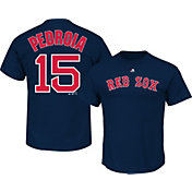 Majestic Men's Boston Red Sox Dustin Pedroia #15 Navy T-Shirt