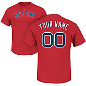 Majestic Men's Custom Boston Red Sox Red T-Shirt