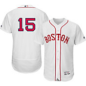 Majestic Men's Authentic Boston Red Sox Dustin Pedroia #15 Alternate Home White Flex Base On-Field Jersey