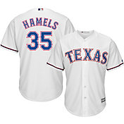 Majestic Men's Replica Texas Rangers Cole Hamels #35 Cool Base Home White Jersey