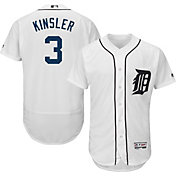 Majestic Men's Authentic Detroit Tigers Ian Kinsler #3 Home White Flex Base On-Field Jersey