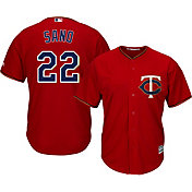 Majestic Men's Replica Minnesota Twins Miguel Sano #22 Cool Base Alternate Red Jersey