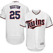 Majestic Men's Authentic Minnesota Twins Byron Buxton #25 Home White Flex Base On-Field Jersey