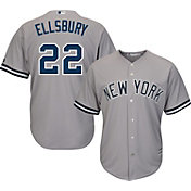 Majestic Men's Replica New York Yankees Jacoby Ellsbury #22 Cool Base Road Grey Jersey
