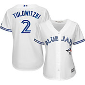 Majestic Women's Replica Toronto Blue Jays Troy Tulowitzki #2 Cool Base Home White Jersey