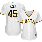 Majestic Women's Replica Pittsburgh Pirates Gerrit Cole #45 Cool Base Home White Jersey