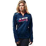 Majestic Women's Boston Red Sox On-Field Navy Authentic Collection Quarter-Zip Pullover