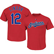 Majestic Youth Cleveland Indians Francisco Lindor #12 Red T-Shirt