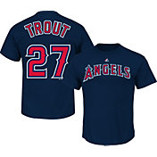Majestic Youth Los Angeles Angels Mike Trout #27 Navy T-Shirt