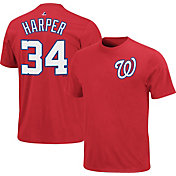 Majestic Youth Washington Nationals Bryce Harper #34 Red T-Shirt