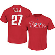 Majestic Youth Philadelphia Phillies Aaron Nola #27 Red T-Shirt