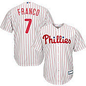 Majestic Youth Replica Philadelphia Phillies Maikel Franco #7 Cool Base Home White Jersey
