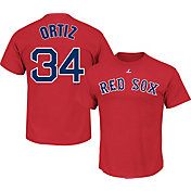 Majestic Youth Boston Red Sox David Ortiz #34 Red T-Shirt