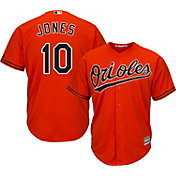 Majestic Youth Replica Baltimore Orioles Adam Jones #10 Cool Base Alternate Orange Jersey