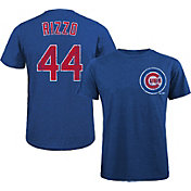 Majestic Threads Men's Chicago Cubs Anthony Rizzo #44 Royal T- Shirt