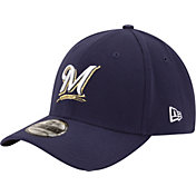 New Era Men's Milwaukee Brewers 39Thirty Classic Navy Stretch Fit Hat