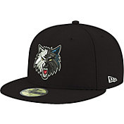 New Era Men's Minnesota Timberwolves 59Fifty Black Fitted Hat