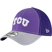 New Era Men's TCU Horned Frogs Purple/Grey Team Front Neo 39Thirty Hat