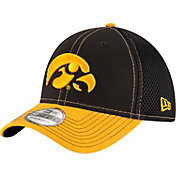 New Era Men's Iowa Hawkeyes Black/Gold Team Front Neo 39Thirty Hat