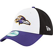 New Era Men's Baltimore Ravens Perfect Block White 9Forty Adjustable Hat