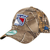 New Era Men's New York Rangers 9Forty The League Real Tree Camo Adjustable Hat