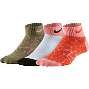 Nike Girls' Graphic Cotton Low Cut Socks 3 Pack
