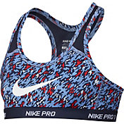 Nike Girls' Pro Hypercool Printed Sports Bra