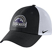 Nike Men's Black/Whiteado Rockies Dri-FIT Black/White Heritage 86 Adjustable Hat