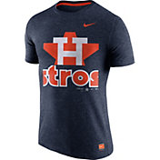 Nike Men's Houston Astros Cooperstown Navy Tri-Blend T-Shirt