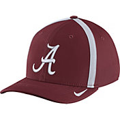 Nike Men's Alabama Crimson Tide Crimson Aerobill Swoosh Flex Classic99 Football Sideline Hat