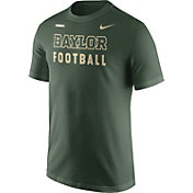 Nike Men's Baylor Bears Green Football Sideline Facility T-Shirt