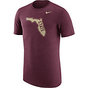 Nike Men's Florida State Seminoles Heathered Garnet Vault Tri-Blend T-Shirt