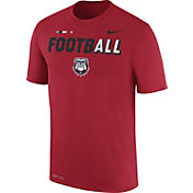 Nike Men's Georgia Bulldogs Red FootbALL Sideline Legend T-Shirt