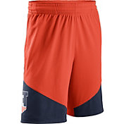 Nike Men's Illinois Fighting Illini Orange/Blue New Classics ELITE Basketball Shorts