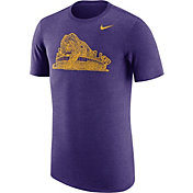 Nike Men's LSU Tigers Heathered Purple Vault Tri-Blend T-Shirt