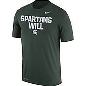 Nike Men's Michigan State Spartans Green 'Spartans Will' Authentic Local Legend T-Shirt