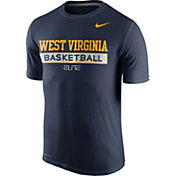 Nike Men's West Virginia Mountaineers Blue ELITE Basketball Practice T-Shirt