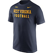 Nike Men's West Virginia Mountaineers Blue Football Sideline Facility T-Shirt