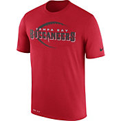 Nike Men's Tampa Bay Buccaneers Legend Icon Performance Red T-Shirt